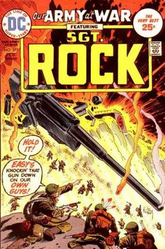 A cover gallery for the comic book Our Army at War Dc Comic Books, Vintage Comic Books, Vintage Comics, Comic Book Covers, Vintage Toys, Comic Art, Best Book Reviews, Joe Kubert, Western Comics