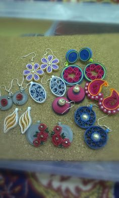 My quilled earings... (Nasha's Creations)