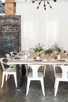 Bridal shower idea - calligraphy class: http://www.stylemepretty.com/living/2015/02/27/the-art-of-hand-lettering/ | Photography: Kathryn McCrary - http://www.kathrynmccrary.com/