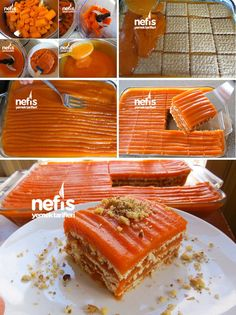 kişinin defterindeki Ha… How to Make Carrot Biscuit Cake Recipe? Here is the illustrated explanation of the Carrot Biscuit Cake Recipe in the book of people and photos of those who try it. Fruit Recipes, Sweet Recipes, Cake Recipes, Snack Recipes, Dessert Recipes, Cooking Recipes, Pasta Recipes, Carrot Recipes, Biscuit Cake