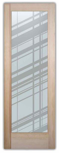 Angles Modern Design Interior Etched Glass Doors Provide privacy thru works of art in glass! Custom designs to suit your decor. Slab, prehung or glass only.