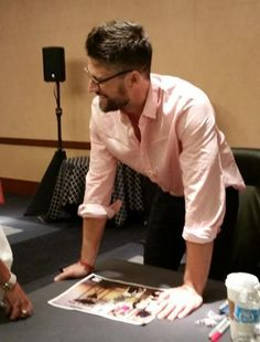 James Scott (EJ Dimera, Days of Our Lives), at a Dool event in Boston 2014. Finally free of the damn show, and look how happy he is! :D
