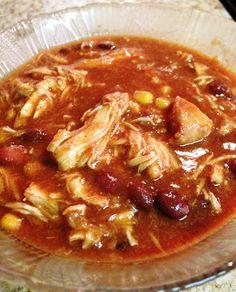 Delectably Skinny: Healthy Recipe: Chicken Taco Chili