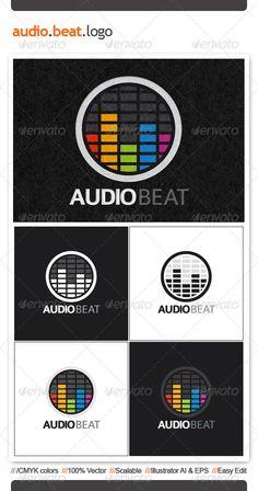 Audio Beat  - Logo Design Template Vector #logotype Download it here: http://graphicriver.net/item/audio-beat-logo-template/2457921?s_rank=126?ref=nexion