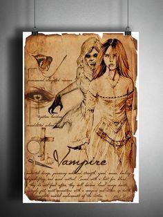 Vampire supernatural horror american folklore art sketch, cryptozoology field guide, bestiary art, vampire woman - Art World Mythical Creatures Art, Mythological Creatures, Magical Creatures, Mythological Monsters, Vampire Girls, Vampire Art, Fantasy Kunst, Dark Fantasy Art, Creepy Horror