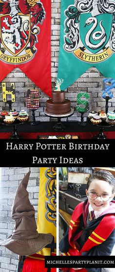 Harry Potter Birthday Party filled with easy DIYs and fun ideas for any age! By Michelle's Party Plan-It (Harry Potter Cake Diy) Harry Potter Motto Party, Bolo Harry Potter, Harry Potter Fiesta, Harry Potter Thema, Cumpleaños Harry Potter, Harry Potter Birthday Cake, Harry Potter Invitations, Harry Potter Party Games, Birthday Games