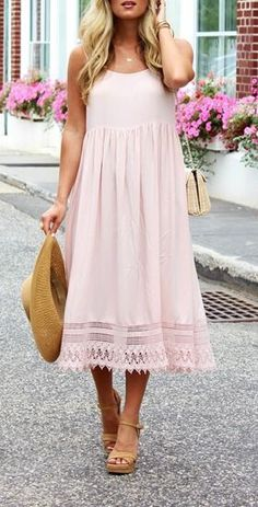 Perfect summer blush dress!