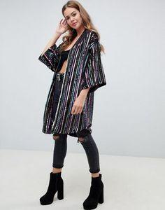 ad886a83 16 Best sequin kimono images | Sequin kimono, Jackets, Mantle