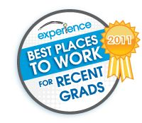 2011- Best Places to Work For Recent Grads