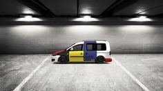 Checkout my tuning #Volkswagen #Caddy(facelift) 2010 #Piet Mondrian #モンドリアン at 3DTuning #3dtuning #tuning