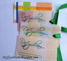 Fabric business card business cards business and fabrics diy fabric business cards reheart Gallery