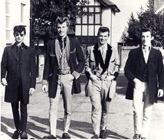 Teddy Boys - Working class British young men who adopted dandy styles from the Edwardian period.