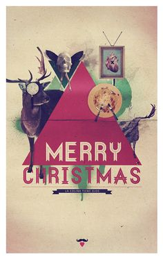 Christmas card by Alex Lorenzo, via Behance