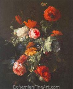 Elias van den Broeck, Flower Piece Fine Art Reproduction Oil Painting