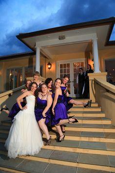 beaux vineyard wedding party having fun