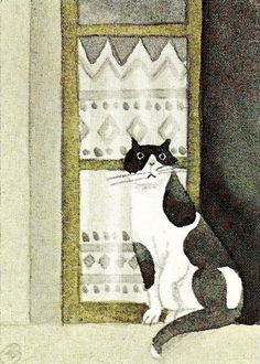 Jan Balet #cat #illustration #art