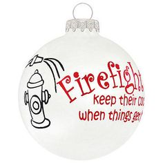 Fire Wife Fire Family Fireman Ornament Firefighter Gift METAL Firefighter Xmas Ornament Fire Girlfriend Firefighter Ornament