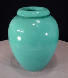 "Pristine! Vintage BAUER California Pottery 16"" DONUT Rim #100 OIL JAR No Reserve"
