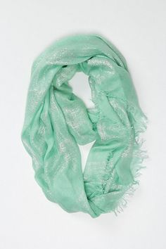 mint shimmer scarf