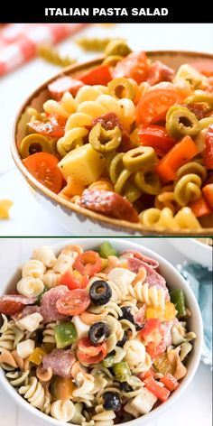 Quick, simple, and delicious, this Italian pasta salad is the perfect classic side dish or appetizer Feta Pasta, Pasta Salad Italian, Appetizers For A Crowd, Seafood Appetizers, Salad Recipes For Dinner, Healthy Salad Recipes, Olives, Easy Pasta Salad Recipe, Cold Pasta