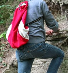 Rucksack aus Jacke / Backpack made from jacket / Upcycling