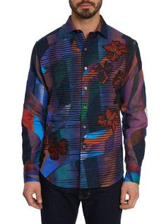 Robert Graham Canyon Flower Classic Fit Sport Shirt In Multicolor Medium Well, Luxury Fashion, Mens Fashion, Flower Graphic, Robert Graham, Sports Shirts, Cool Shirts, Style Me, Shirt Designs