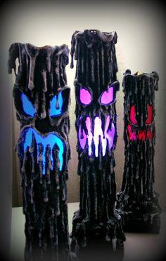 Halloween Candle Paper Mache Prop