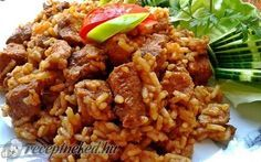 Érdekel a receptje? Kattints a képre! Hungarian Cuisine, Hungarian Recipes, Meat Recipes, Recipies, Pork Dishes, Fried Rice, Bacon, Food And Drink, Chicken