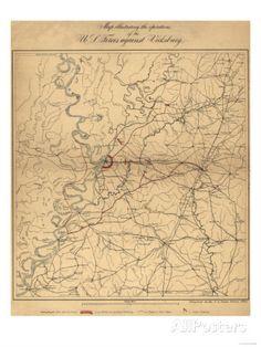 Siege of Vicksburg - Civil War Panoramic Map Posters at AllPosters.com