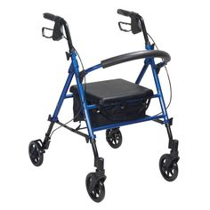 The Lightweight Adjustable Height Rollator has unique height adjustable seat and handles. Suits users up to 135kg. Available now, delivered Australia wide.