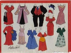 Danish Jiggs and Maggie paper dolls from Bringing Up Father / picasaweb.google