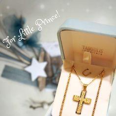 For Little Prince! Βαπτιστικός σταυρός με αλυσίδα για αγόρι 9acf824dc56
