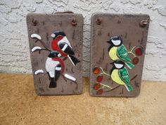 70's Vintage Wall Decor Pottery Plaques by Happybeginning on Etsy, $25.00