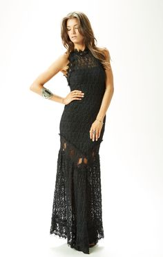 NIGHTCAP FLORENCE LACE HALTER GOWN