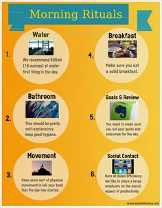 Your daily morning routine (morning ritual) is crucial for setting up yourself for success. Here are the essentials to get started.