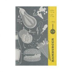 Tea towel Hamburger Dark grey 70x50 / 28