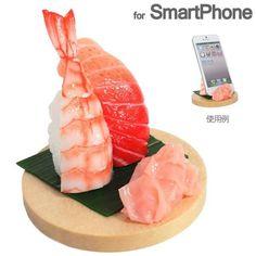 Japan's food sample shop of the Takumi finish! Sushi smartphone stand that invites to sushi 日本の食品サンプル屋さんの匠な仕上がり!寿司屋にいざなうお寿司スマートフォンスタンド