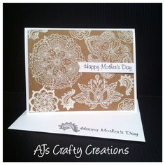 Ctmh embossed ornate blossom Mother's Day card Heart Cards, Mothers Day Cards, Close To My Heart, Creative Cards, Blossoms, I Card, Card Ideas, Card Stock, Stamps
