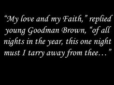 essays on young goodman brown faith