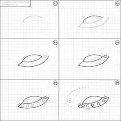 How to draw an ufo.