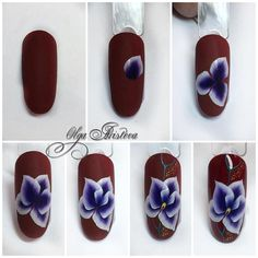 Acrylic Nail Powder, Powder Nails, Acrylic Nails, Nail Art Diy, Diy Nails, One Stroke Nails, Nail Art Techniques, Nails First, Manicure Y Pedicure