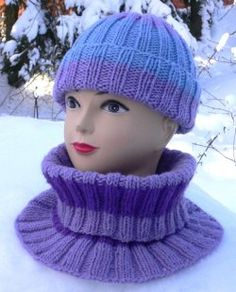 KAULURI kahdella värillä Crochet Scarves, Neck Warmer, Knitted Hats, Shawl, Knitting, Crocheting, Fashion, Long Scarf, Crochet