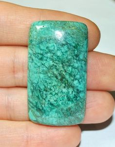 Natural Tibetan Turquoise Cabochon Cushion  45.0 x 25.1mm by AliveGems, $22.00