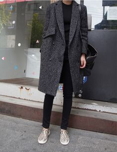 Coat, pant and slip on sneakers : Minimal + Classic <3 | #Gracie #Streetstyle #fashionfinds