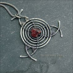 Untitled | Strukova Elena | Flickr Wiccan Jewelry, Wire Jewelry, Pendant Jewelry, Jewelry Crafts, Jewelry Art, Jewelery, Jewelry Design, Wire Necklace, Wire Wrapped Necklace