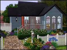 Sims 3 Small Starter Home Sims 4 House Building, Sims House Plans, Boat Building, Sims 3 Houses Ideas, Sims Ideas, House Ideas, Sims 4 Family, Casas The Sims 4, Looking For Houses