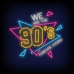 Estilo de sinais de néon de festa dos an. Logo Design, Neon Design, Banners, Neon Words, 90s Party, Neon Wallpaper, Neon Aesthetic, Logo Vintage, Vintage Music