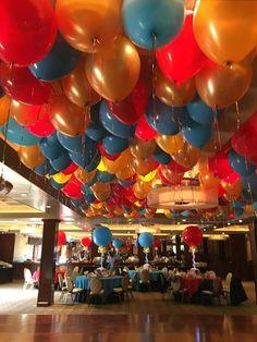 Circus Themed Ceiling Balloons - Ceiling Décor