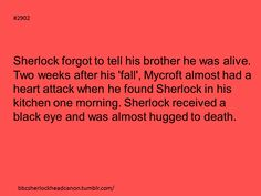 I would like to see this happen, but I know it never would. Mycroft would never act like that.