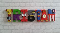 Superhero Letters. Personalised Hand Painted by MagnificentMakesUK